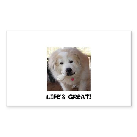 Life's Great Sticker (Rectangle)