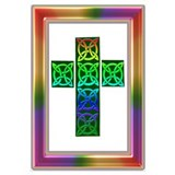 Glowing Celtic Cross