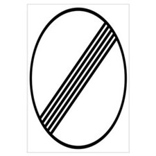 Autobahn No Speed Limit Sign