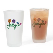 Jaelynn Flowers Drinking Glass