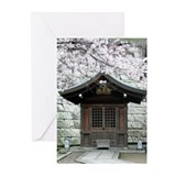 Cherry Blossoms and Shrine in Greeting Cards (Pack