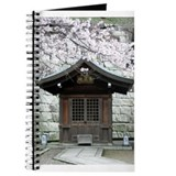 Cherry Blossoms and Shrine in Journal