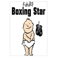 Future Boxing Star Framed Nursery Print