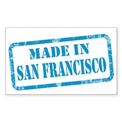 MADE IN SAN FRANCISCO, CA Sticker (Rectangle 50 pk
