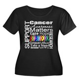 Support All Cancers Women's Plus Size Scoop Neck D