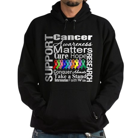 Support All Cancers Hoodie (dark)