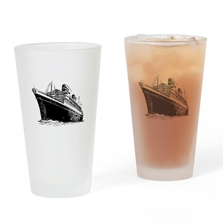 Ocean Liner Ship Drinking Glass