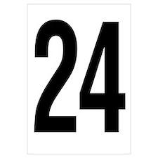 Number 24 Helvetica