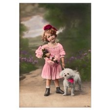 1920's Child with Bichon -11 x 17 Print