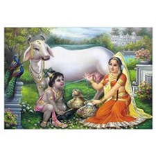 Yashoda and Krishna Un