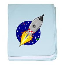 Spaceship Rocket baby blanket