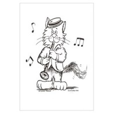 Catoons clarinet cat