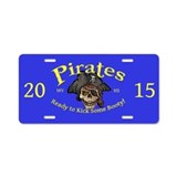 MVHS Pirates 2015 Aluminum License Plate