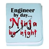 Engineer Ninja baby blanket