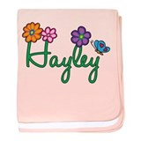 Hayley Flowers baby blanket
