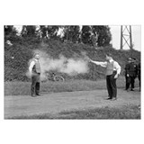 Police Testing Bulletproof Vest, 1923.