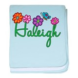 Haleigh Flowers baby blanket