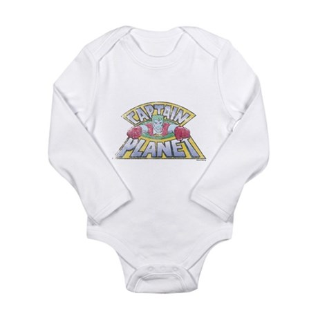 Vintage Captain Planet Long Sleeve Infant Bodysuit
