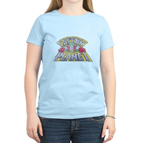 Vintage Captain Planet Womens Light T-Shirt