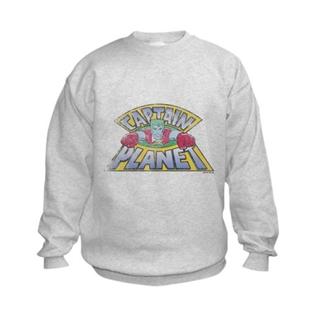 Vintage Captain Planet Kids Sweatshirt