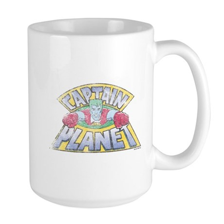 Vintage Captain Planet Large Mug