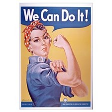 Unique Rosie the riveter Wall Art