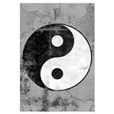 Distressed Yin Yang Symbol
