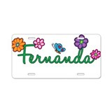 Fernanda Flowers Aluminum License Plate