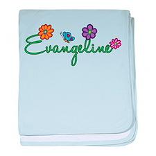 Evangeline Flowers baby blanket