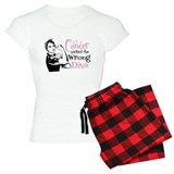 Wrong Diva Breast Cancer pajamas