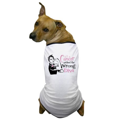Wrong Diva Breast Cancer Dog T-Shirt