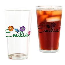 Emilia Flowers Drinking Glass