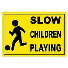 SLOW CHILDREN PLAYING