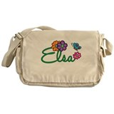Elsa Flowers Messenger Bag