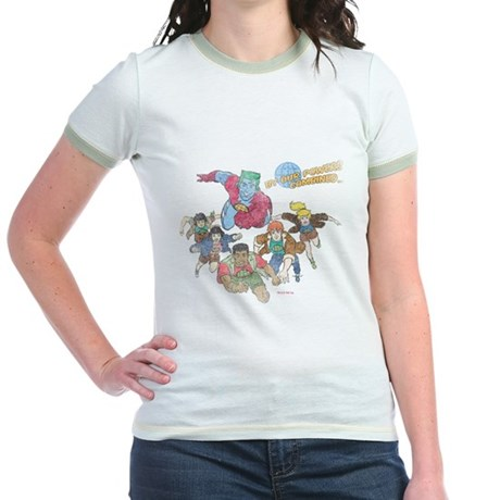 By Our Powers Combined Jr Ringer T-Shirt