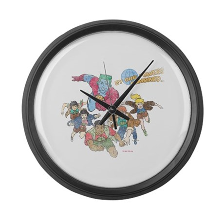 By Our Powers Combined Large Wall Clock