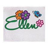 Ellen Flowers Throw Blanket