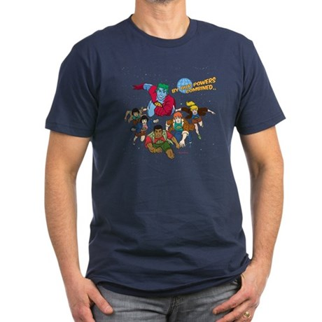 Captain Planet Powers Mens Fitted Dark T-Shirt