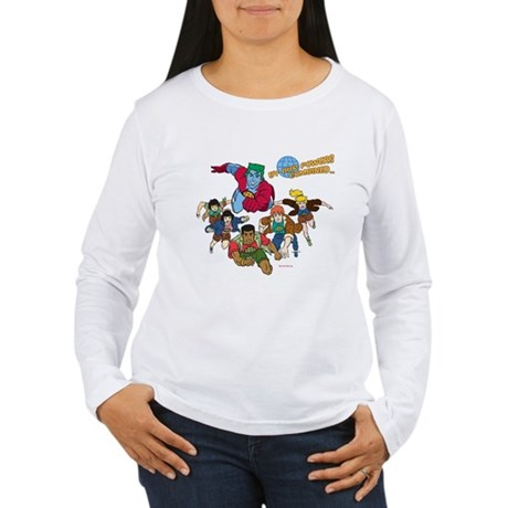 Captain Planet Powers Womens Long Sleeve T-Shirt