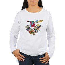 Captain Planet Powers Womens Long Sleeve T-Shirt