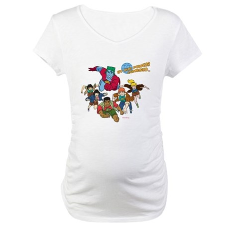 Captain Planet Powers Maternity T-Shirt