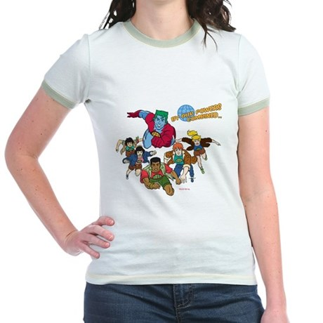 Captain Planet Powers Jr Ringer T-Shirt