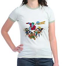 Captain Planet Powers Jr Ringer T-Shirt