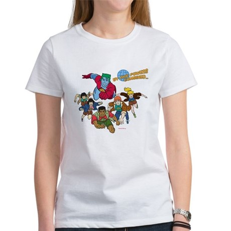 Captain Planet Powers Womens T-Shirt
