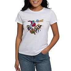 Captain Planet Powers Womens T-Shirt