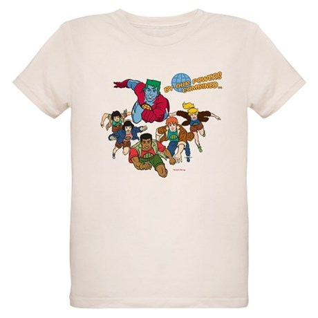 Captain Planet Powers Organic Kids T-Shirt