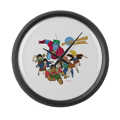 Captain Planet Powers Large Wall Clock