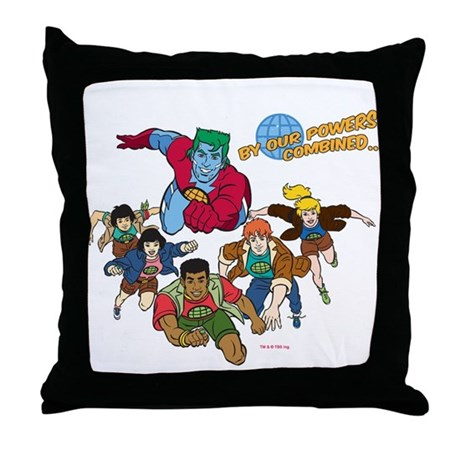 Captain Planet Powers Throw Pillow