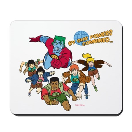 Captain Planet Powers Mousepad