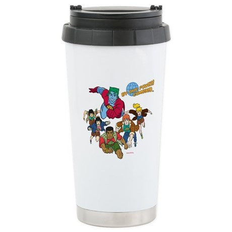 Captain Planet Powers Stainless Steel Travel Mug